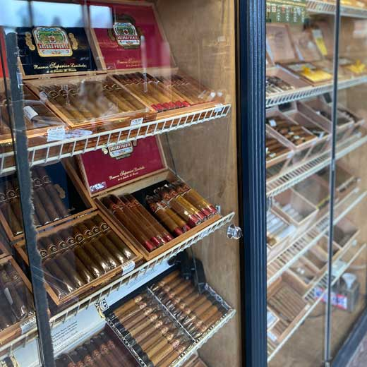 Federal Cigar store Epping NH fully stocked with the best cigar brands